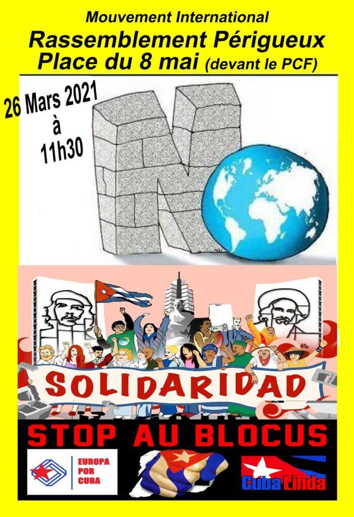 Visuel action Cuba Linda Mars 2021