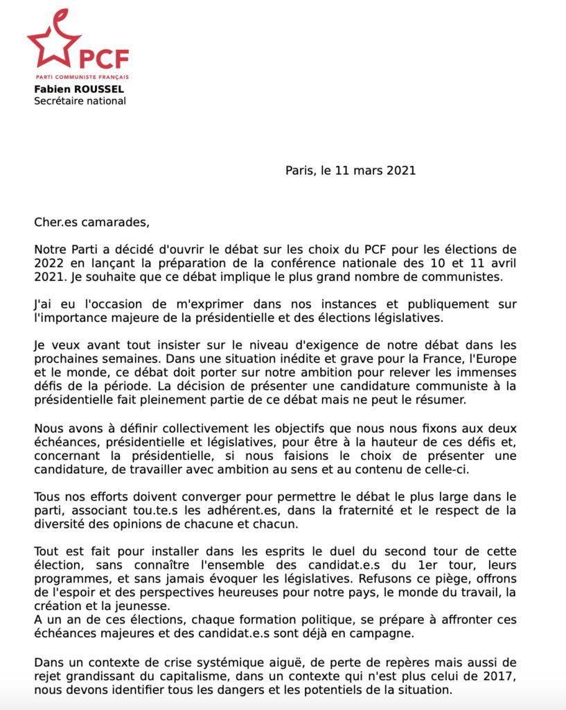 Candidature Fabien Roussel